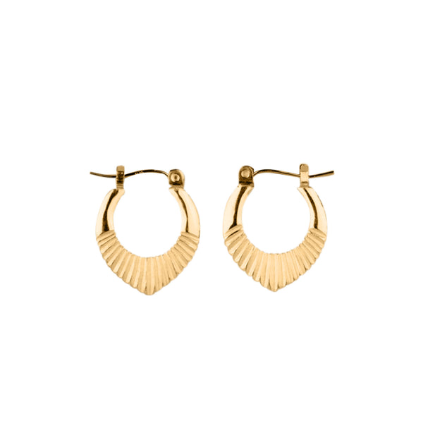Vermeil Small Helios Hoops by Corey Egan