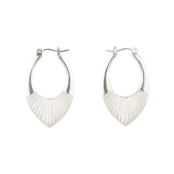 Silver Medium Helios Hoops by Corey Egan