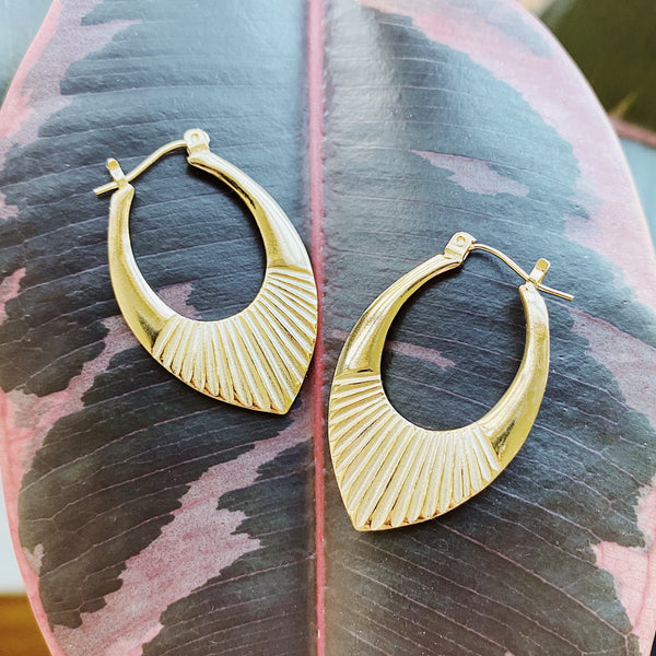 Vermeil Medium Helios Hoops by Corey Egan