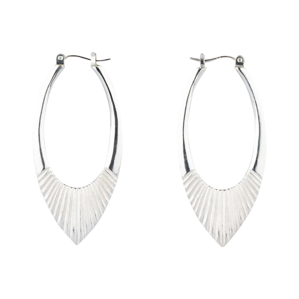 Large Silver Helios Hoops by Corey Egan