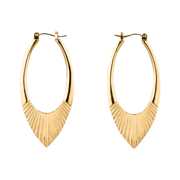 Vermeil Large Helios Hoops by Corey Egan