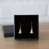 Gold and Diamond Crystal Fragment Earrings