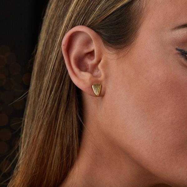 Gold Spark Stud Earrings by Corey Egan