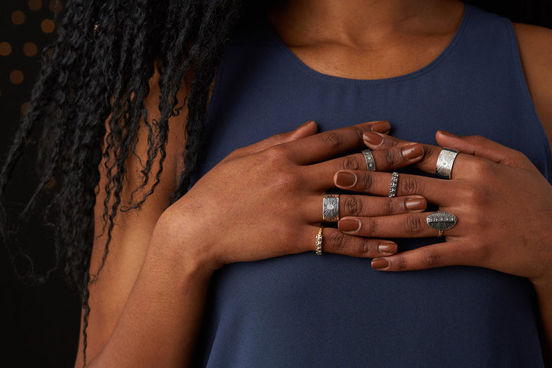 Lumens Collection Rings by Corey Egan