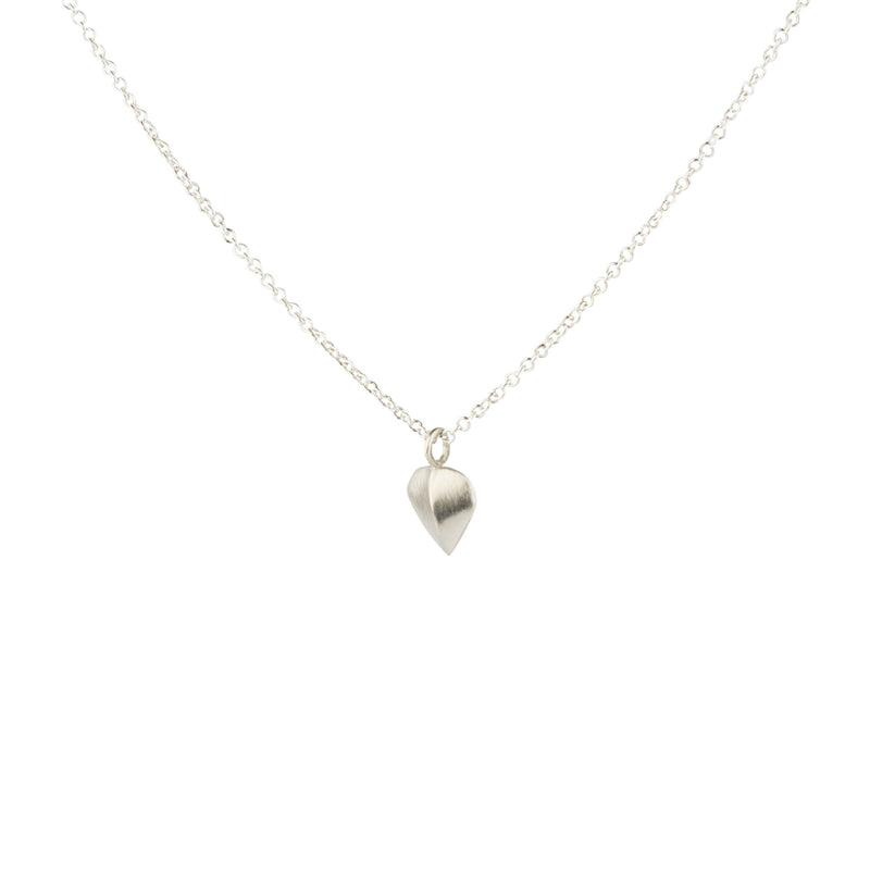 Silver Aspen Leaf Necklace by Corey Egan