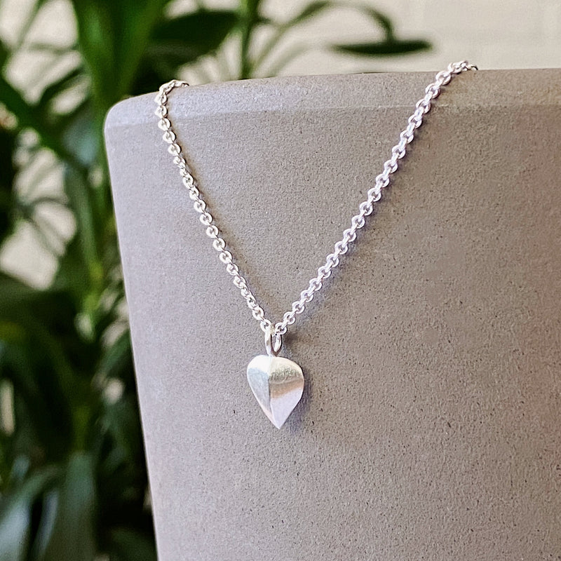 Silver Two Tone Aspen Leaf Necklace