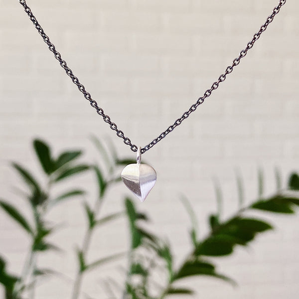 Silver and Oxidized Silver Aspen Leaf Necklace by Corey Egan