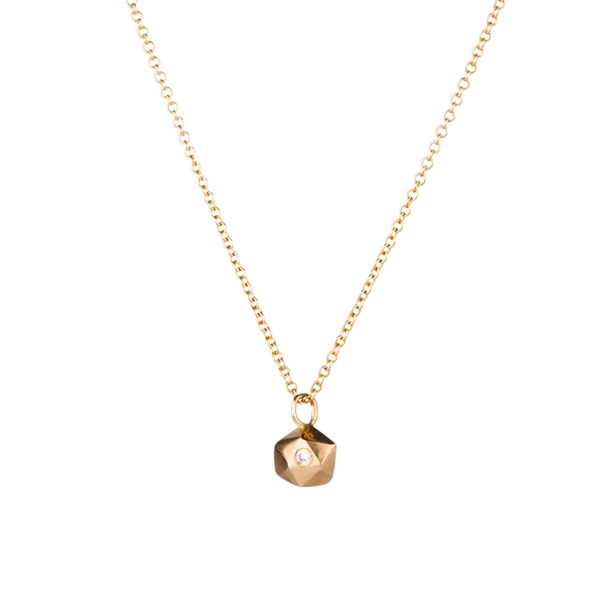 Gold Tiny Fragment Diamond Necklace by Corey Egan