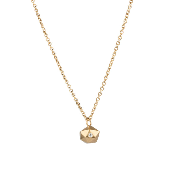 Vermeil Tiny Fragment Diamond Necklace by Corey Egan
