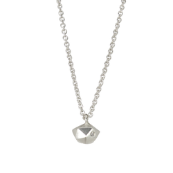 Silver Tiny Fragment Diamond Necklace by Corey Egan
