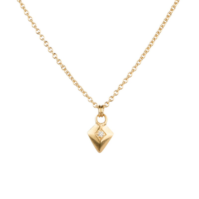 Vermeil Deco Arrow Necklace by Corey Egan