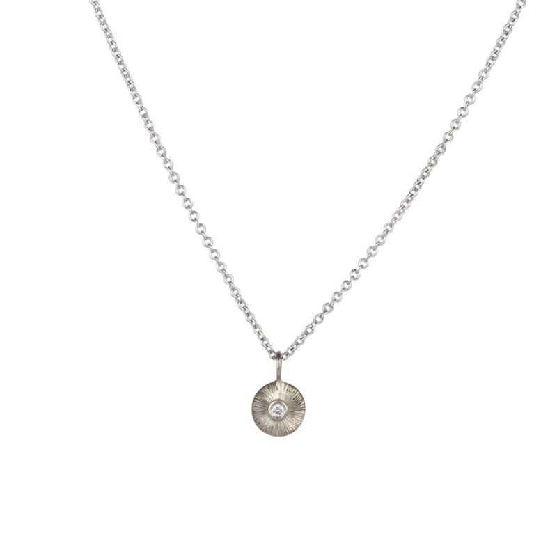 White Gold and Diamond Nimbus Necklace by Corey Egan