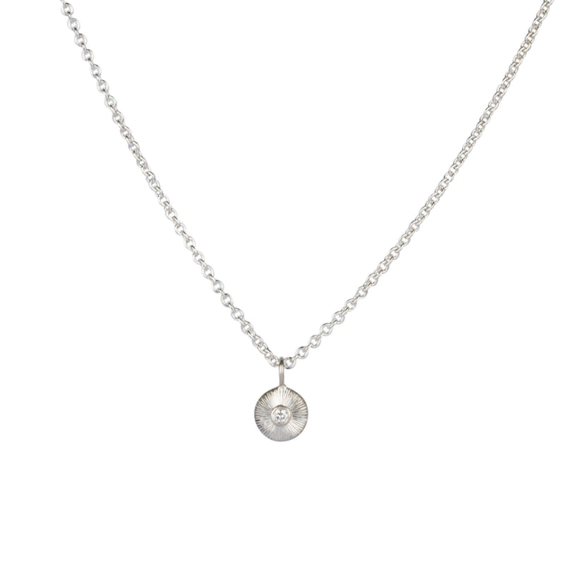 Silver and Diamond Nimbus Necklace by Corey Egan