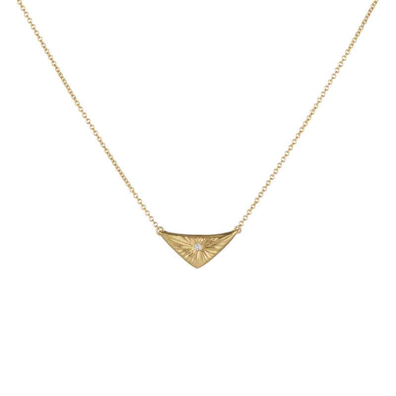 Gold and Diamond Flash Necklace by Corey Egan