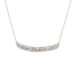 Silver Luminous Bar Necklace by Corey Egan