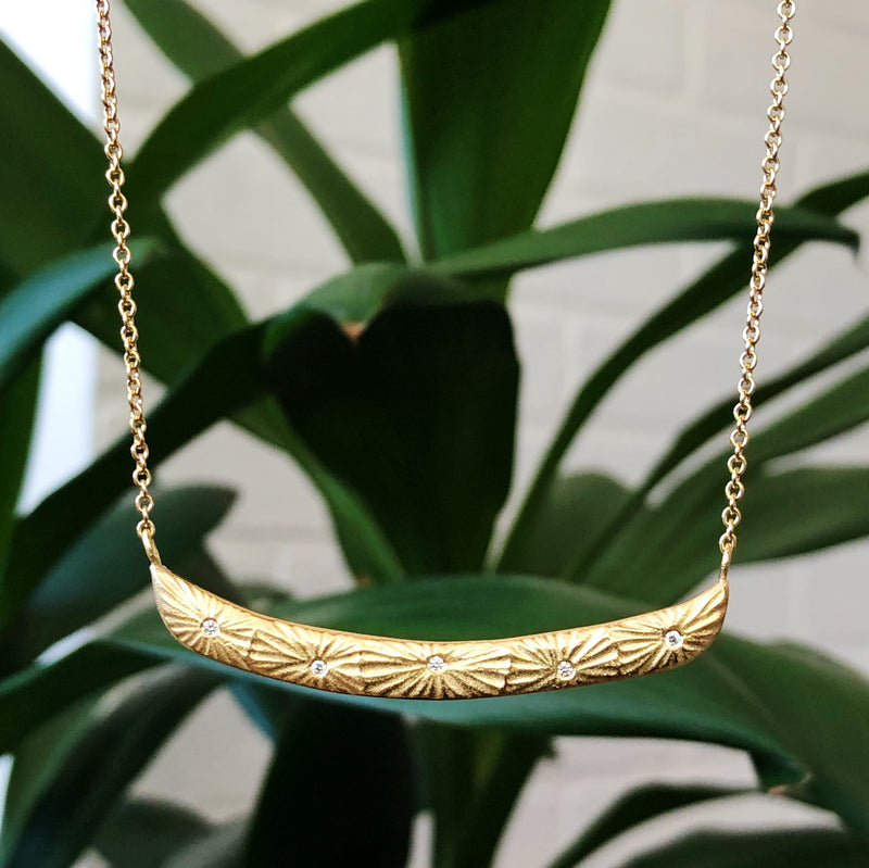 Luminous Bar Vermeil Necklace by Corey Egan