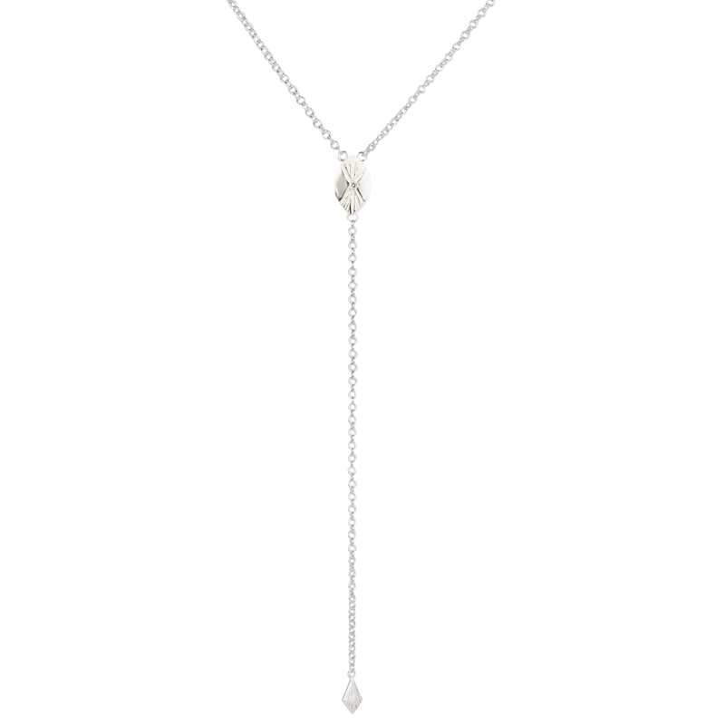 Prism Lariat in Sterling Silver by Corey Egan