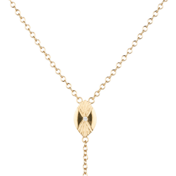 Vermeil Prism Lariat Necklace by Corey Egan