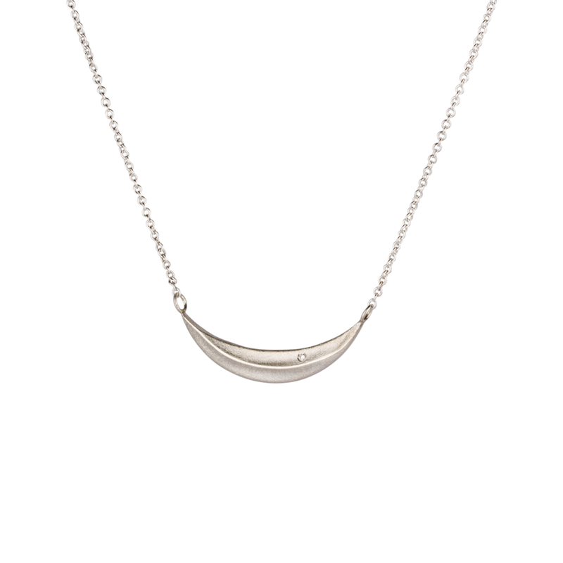 Sterling Silver and Diamond Wisp Necklace by Corey Egan