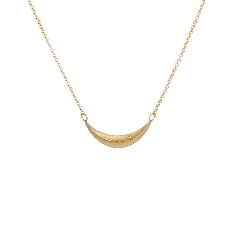Wisp Diamond Vermeil Necklace by Corey Egan