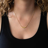 Diamond Wisp Vermeil Necklace