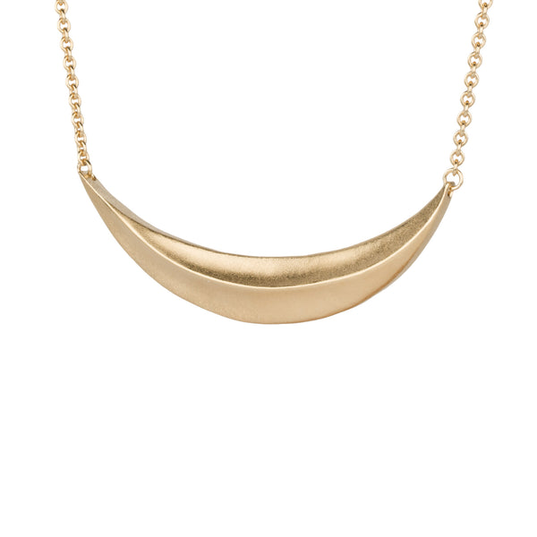 Flow Vermeil Crescent Necklace by Corey Egan