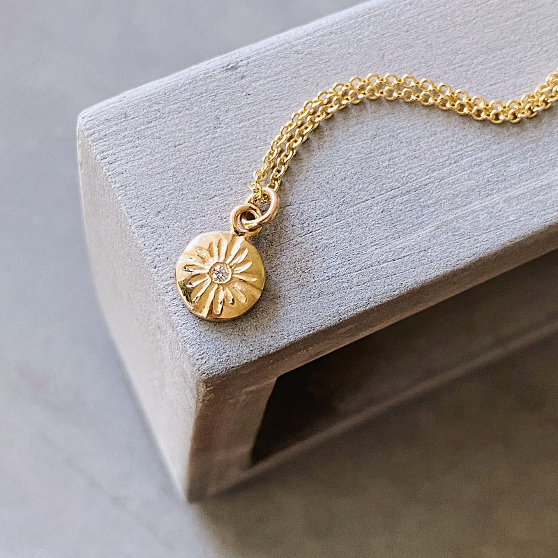 Gold and Diamond Small Lucia Necklace | Corey Egan