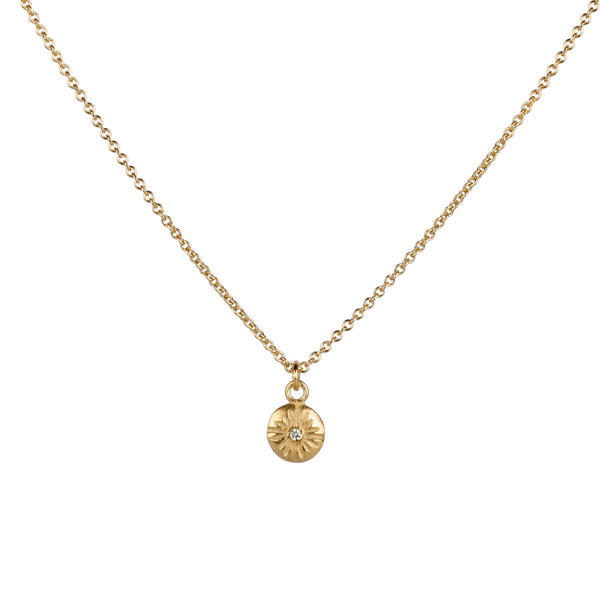 Small Lucia Diamond Vermeil Necklace | Corey Egan