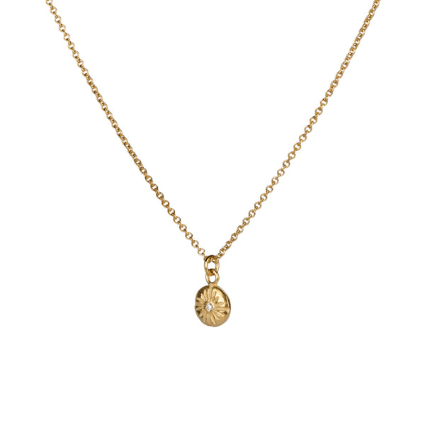 Small Corona Diamond Vermeil Necklace | Corey Egan