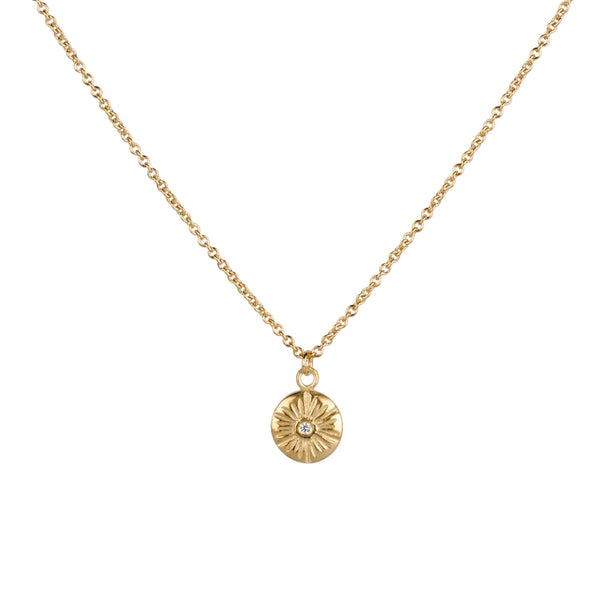 Medium Corona Diamond Vermeil Necklace | Corey Egan
