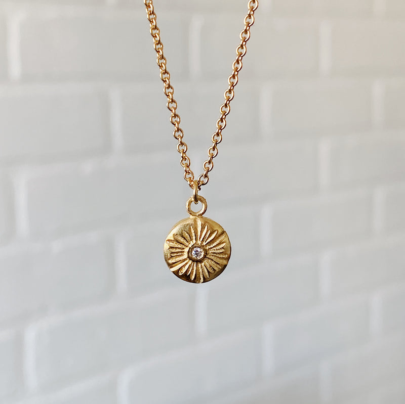 Medium Lucia Diamond Vermeil Necklace | Corey Egan