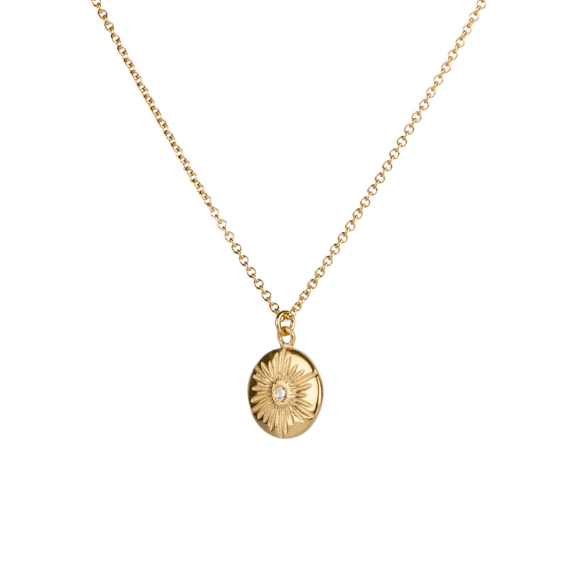 Large Corona Diamond Vermeil Necklace | Corey Egan