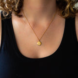 Large Lucia Diamond Vermeil Necklace | Corey Egan