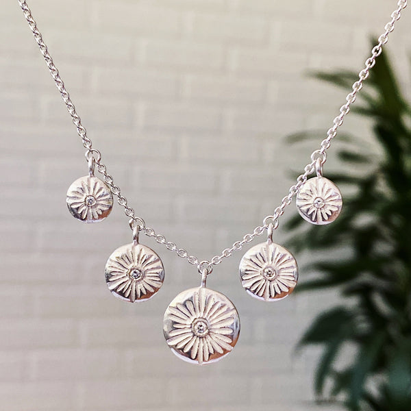 Five Lucia Diamond Silver Necklace | Corey Egan