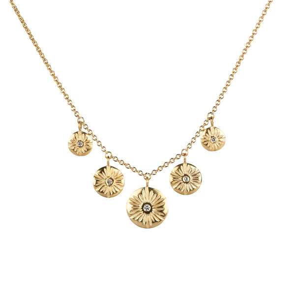 Five Corona Diamond Vermeil Necklace | Corey Egan
