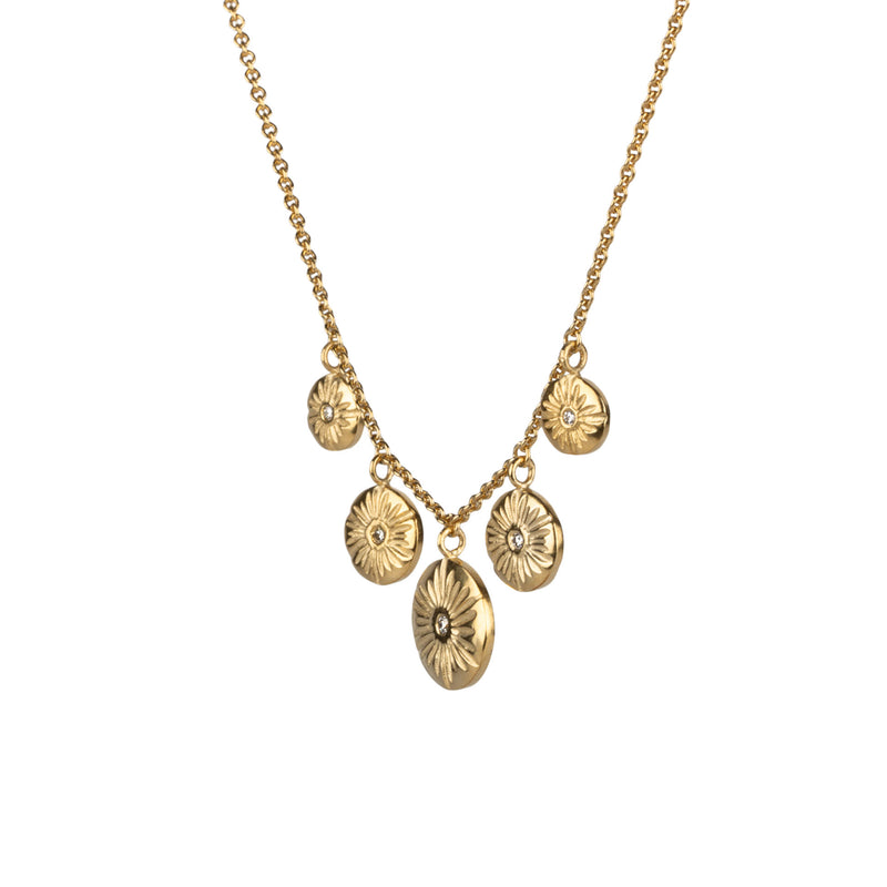 Lucia Diamond Vermeil Statement Necklace | Corey Egan