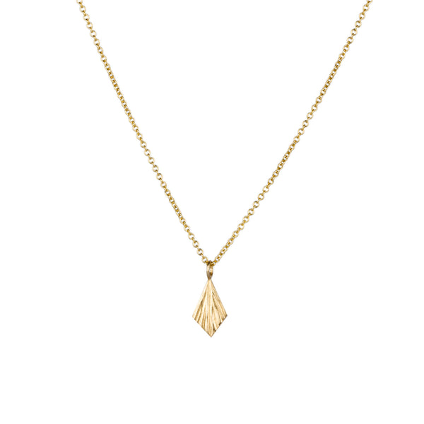 Gold Flame Necklace by Corey Egan