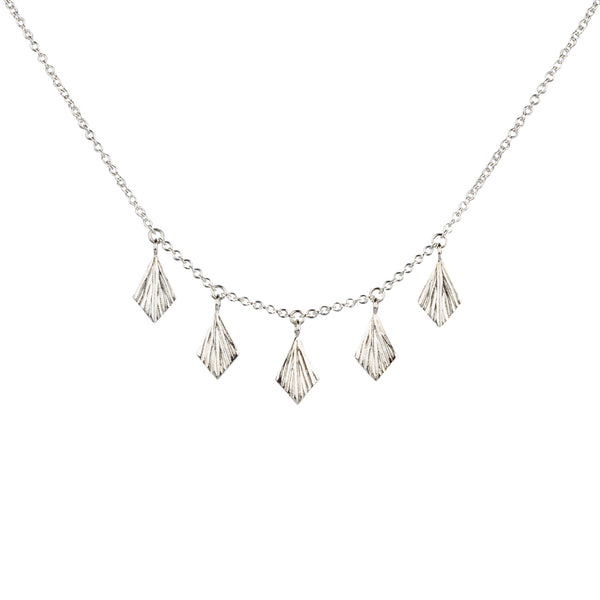 Flame Fan Silver Necklace by Corey Egan