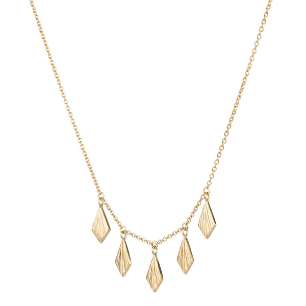 Vermeil Flame Fan Necklace by Corey Egan