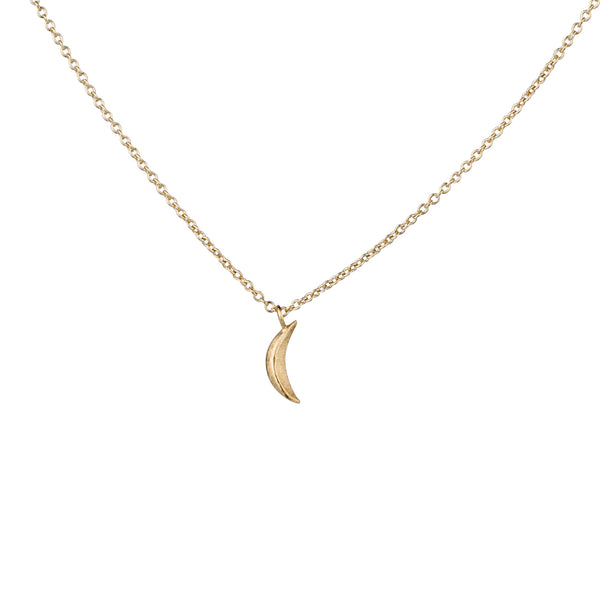 Vermeil Micro Wisp Moon Necklace by Corey Egan