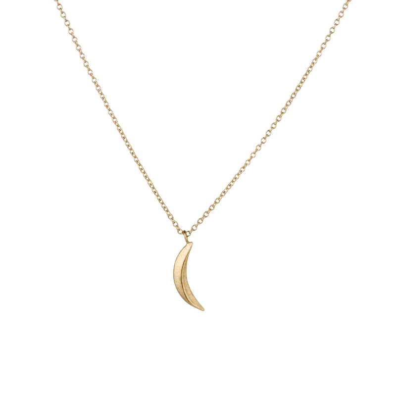 Vermeil Small Wisp Moon Necklace by Corey Egan