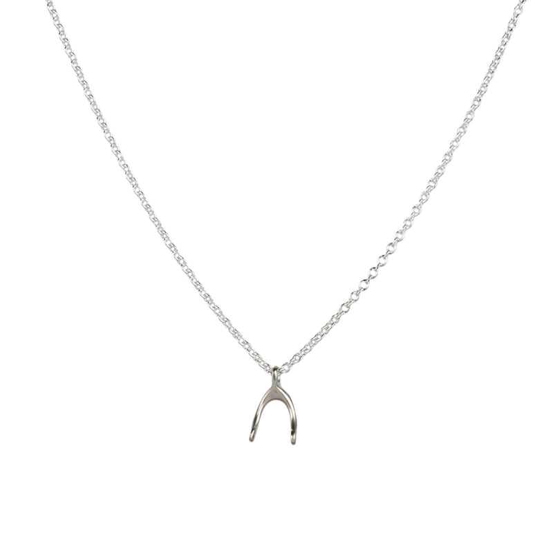 Silver Wishbone Necklace by Corey Egan