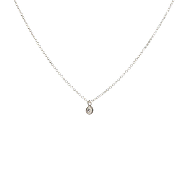 Silver and Diamond Rise Necklace by Corey Egan