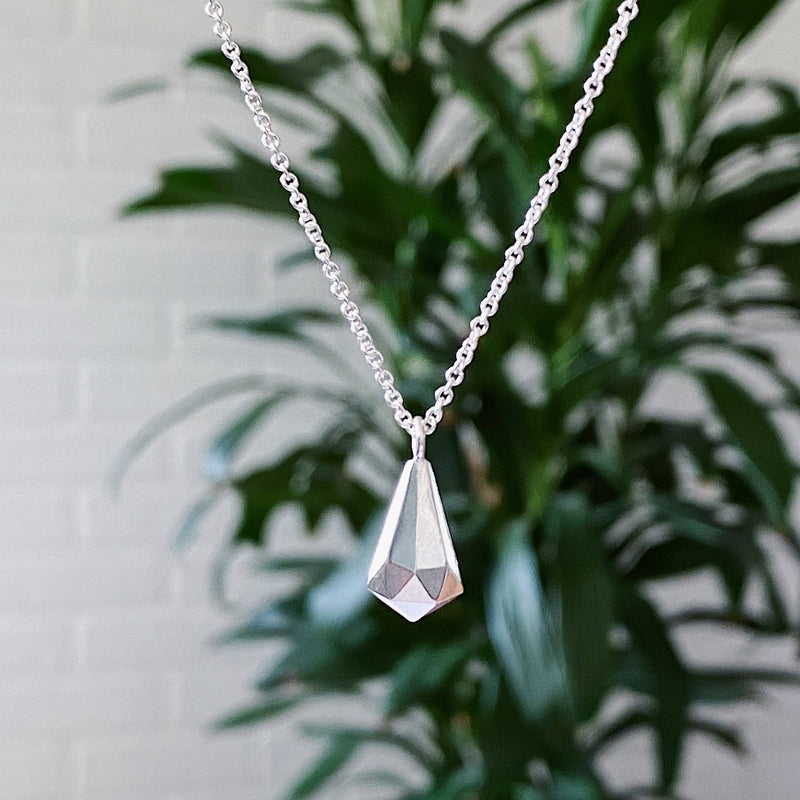 Sterling Silver Crystal Fragment Necklace