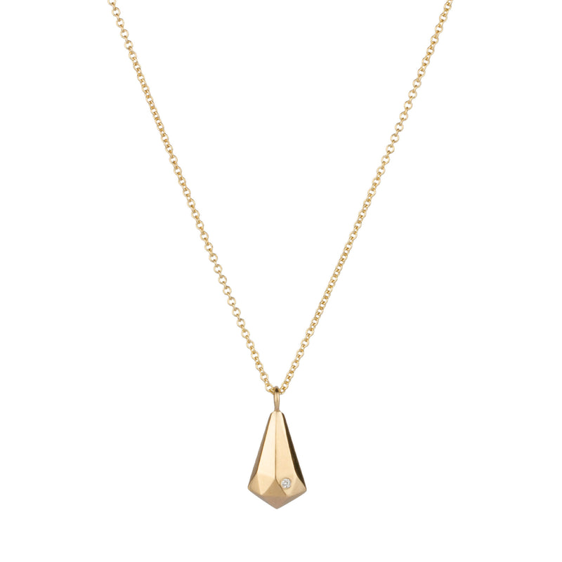 Gold Crystal Fragment Necklace