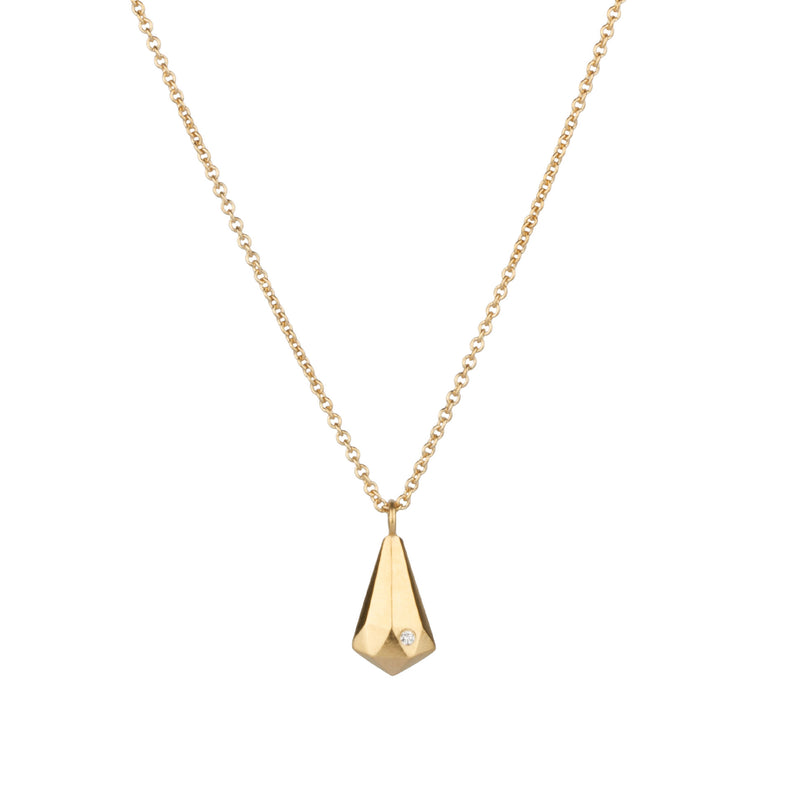 Vermeil and Diamond Crystal Fragment Necklace