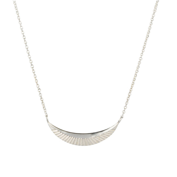 Silver Icarus Crescent Necklace by Corey Egan