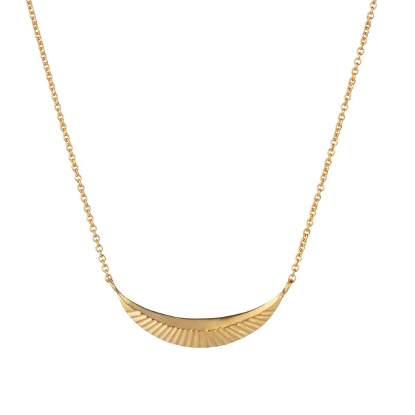 Vermeil Icarus Crescent Necklace by Corey Egan