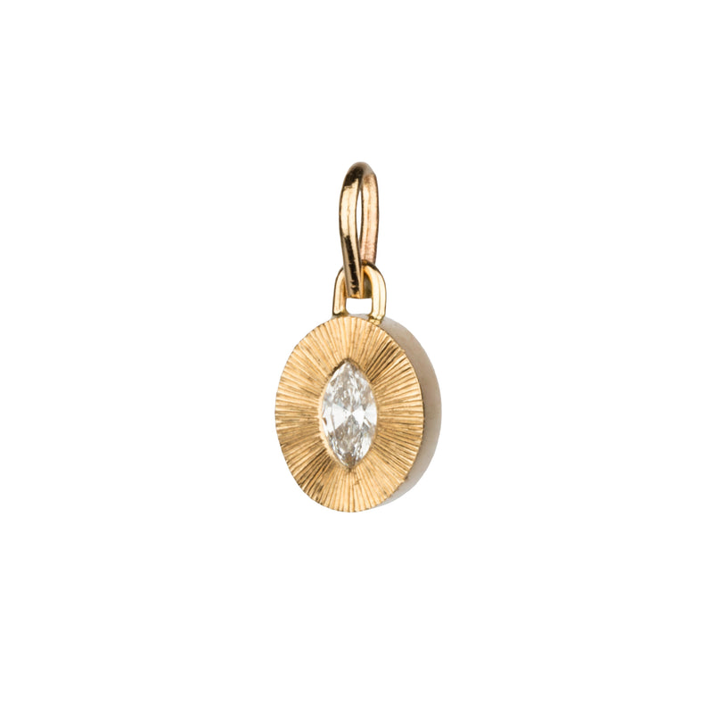 Marquis Diamond Small Aurora Pendant in 14k Yellow Gold by Corey Egan