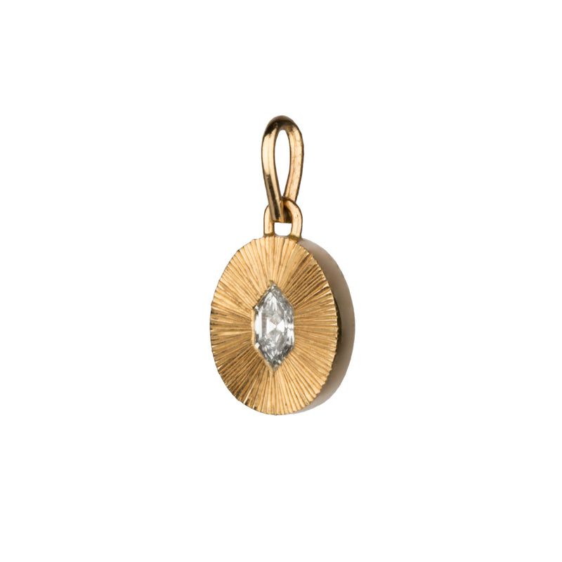 Step Nouveau Diamond Medium Aurora Pendant in 14k Yellow Gold by Corey Egan